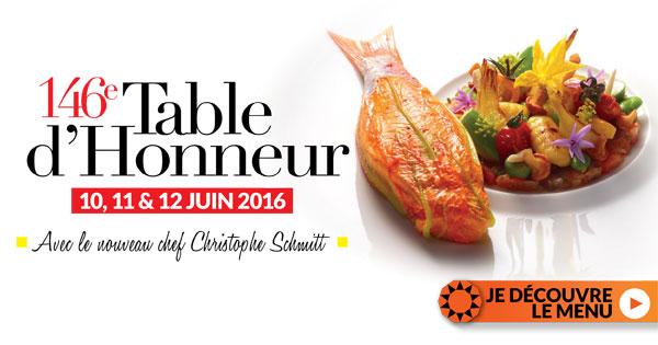 146 eme table d'honneur